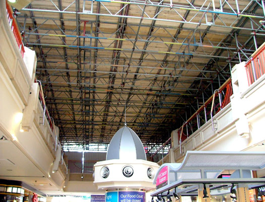 Castle Mall scaffold